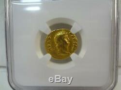 Roman Nero AD 54-68 AV Aureus Colossus 6.81g Gold Coin NGC Ancients VF 5/5 3/5