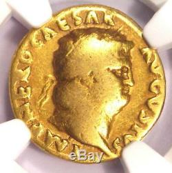 Roman Nero Gold AV Aureus Coin 54-68 AD Certified NGC VG Condition