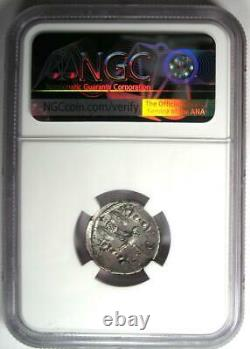 Roman Octavian Augustus AR Denarius Mars Silver Coin 42 BC NGC Choice VF