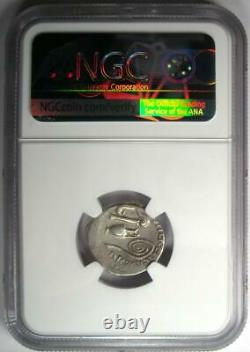 Roman Octavian Augustus AR Denarius Silver Coin 37 BC Certified NGC VF