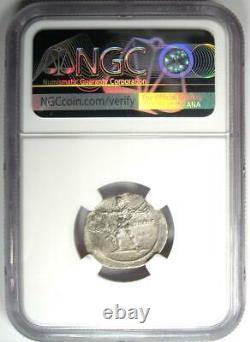 Roman Octavian Augustus AR Denarius Silver Italian Coin 32 BC Certified NGC VF