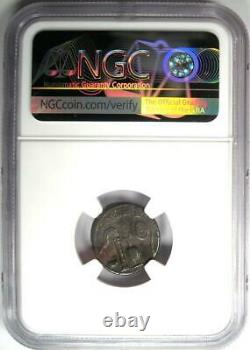 Roman Octavian Augustus AR Denarius Silver Italian Coin 37 BC Certified NGC VF