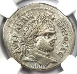 Roman Phoenicia Berytus Caracalla BI Tetradrachm Coin 198-217 AD NGC AU