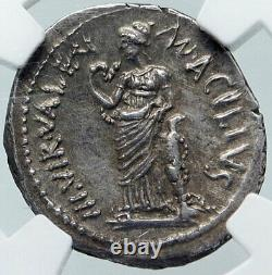 Roman Repbulic 49BC FIRST ROME DOCTOR Ancient Silver Coin SALUS NGC i86047