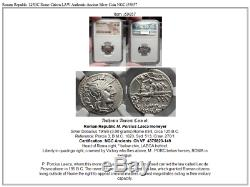 Roman Republic 125BC Rome Citizen LAW Authentic Ancient Silver Coin NGC i59857