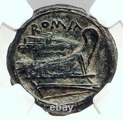 Roman Republic 217BC Rare TIME of WAR v HANNIBAL Ancient Coin MERCURY NGC i73030