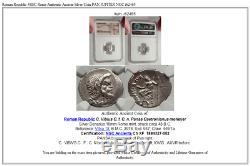 Roman Republic 48BC Rome Authentic Ancient Silver Coin PAN JUPITER NGC i62465