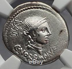 Roman Republic 83BC Rome VENUS FASCES CADUCEUS Ancient Silver Coin NGC i59892