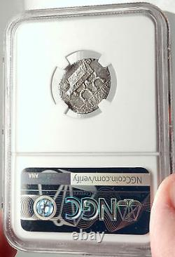 Roman Republic 84BC Rome Authentic Ancient Silver Coin CYBELE & CHAIR NGC i69794