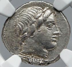 Roman Republic 86BC Sulla Time OPTIMATES vs POPULARES Silver Coin NGC i87716