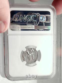 Roman Republic 90BC APOLLO Minerva Horse Chariot Ancient Silver Coin NGC i73141