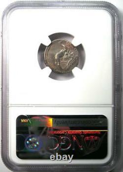 Roman Republic A. Plautius AR Denarius Camel Coin 55 BC Certified NGC AU