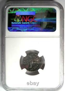 Roman Republic Albinus Bruti AR Denarius Coin 48 BC Certified NGC Choice VF