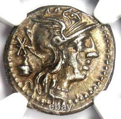 Roman Republic C. Cassius AR Denarius Silver Coin 126 BC Certified NGC AU