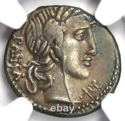 Roman Republic C. Vib. Cf Pansa AR Denarius Coin 90 BC Certified NGC Choice VF