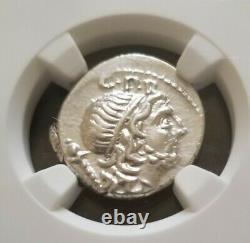 Roman Republic Cornelius Lentulus Denarius NGC CH AU 4/4 Ancient Silver Coin