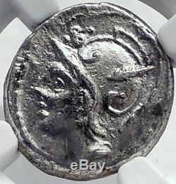 Roman Republic JULIUS CAESAR Family Ancient Silver Coin VENUS CUPIDS NGC i81722