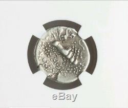 Roman Republic Q. Curtius & Silanus NGC VF Ancient Denarius Coin