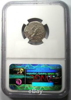 Roman Republic Q. Fabius Labeo AR Denarius Roma Coin 124 BC NGC Choice VF