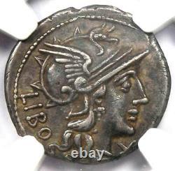 Roman Republic Q. Marcius Libo AR Denarius Coin 148 BC Certified NGC XF (EF)