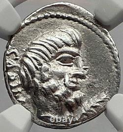Roman Republic Tarpeia BETRAYS Rome Sabine King Tatius Silver Coin NGC i62852