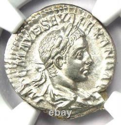 Roman Severus Alexander AR Denarius Coin 222-235 AD Certified NGC Choice AU