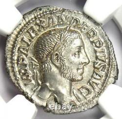 Roman Severus Alexander AR Denarius Coin 222-235 AD Certified NGC MS (UNC)