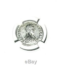 Roman Silver Geta Antoninianus Coin NGC Certified VF With Story, Certificate