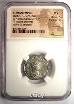 Roman Tacitus BI Aurelianianus Jupiter Coin 275-276 AD Certified NGC MS (UNC)