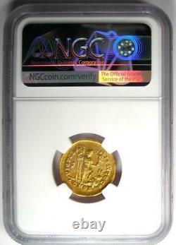 Roman Theodosius I AV Solidus Gold Coin 379-395 AD Certified NGC Choice AU