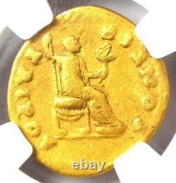Roman Titus Gold AV Aureus Livia Coin 79-81 AD Certified NGC Fine
