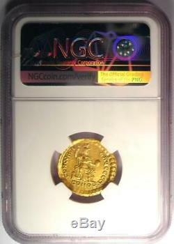 Roman Valentinian II AV Solidus Gold Coin 375-392 AD Certified NGC AU