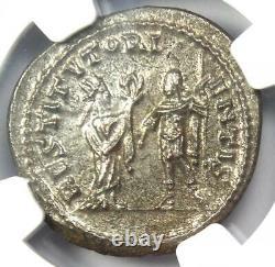 Roman Valerian I BI Double Denarius Coin 253-260 AD Certified NGC MS Condition