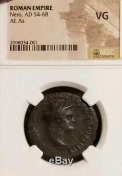 Romane Empire NERO AE As NGC VG Ancient Coin
