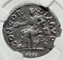 SABINA wife of HADRIAN Ancient 131AD Silver Roman Coin CONCORDIA NGC i80526
