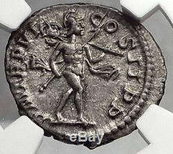 SEVERUS ALEXANDER 227AD Rome MARS Ancient Silver Roman Denarius Coin NGC i59825