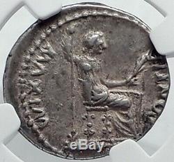 TIBERIUS 36AD Silver BIBLICAL Roman Coin Jesus Christ RENDER CAESAR NGC i81773
