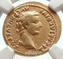 TIBERIUS Authentic Ancient 15AD GOLD Roman Coin LIVIA NGC Certified VF i71693