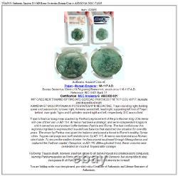 TRAJAN Authentic Ancient 114AD Rome Sestertius Roman Coin w ARMENIA NGC i72885
