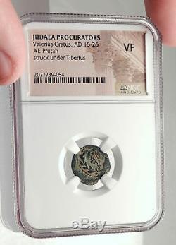 VALERIUS GRATUS Roman Jerusalem Prefect TIBERIUS LIVIA Biblical Coin NGC i70835