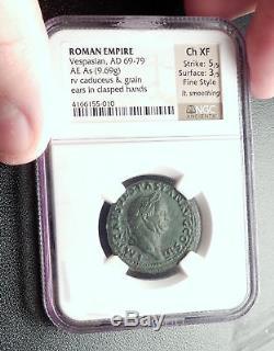 VESPASIAN 71AD Rome Authentic Genuine Original Ancient Roman Coin NGC i64275