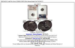 VESPASIAN Jewish War Victory JUDAEA CAPTA Silver Ancient Roman Coin NGC i69315