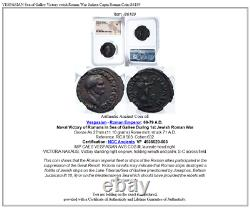 VESPASIAN Sea of Galilee Victory ewish Roman War Judaea Capta Roman Coin i86189