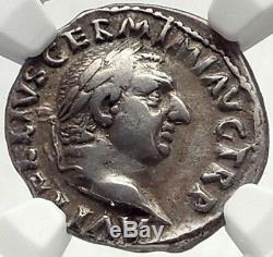 VITELLIUS Rare 69AD Ancient Silver Roman Denarius Coin ex HAMBURGER 1928 NGC