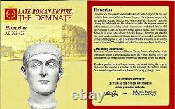 Western Roman Emperor Honorius Coin NGC Certified XF, With Story, Certificate