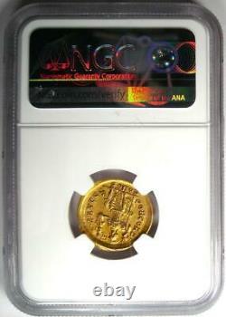 Western Roman Honorius AV Solidus Gold Coin 393-423 AD Certified NGC AU Rare