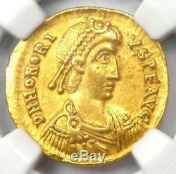Western Roman Honorius AV Solidus Gold Coin 393-423 AD Certified NGC Choice XF