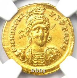 Western Roman Honorius AV Solidus Gold Coin 393-423 AD Certified NGC XF (EF)