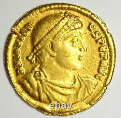 Western Roman Jovian AV Solidus Gold Coin 363-64 AD. NGC Choice VF (Certificate)