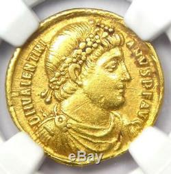 Western Roman Valentinian I AV Solidus Gold Coin 364-375 AD NGC Choice VF